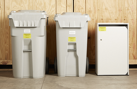 Different Shredding Containers